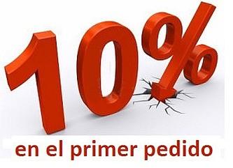 10 % de descuento primer pedido
